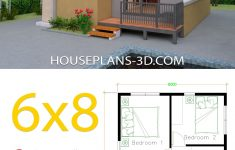 Floor Plans For Small Houses With 2 Bedrooms New House Design 6x8 With 2 Bedrooms House Plans 3d