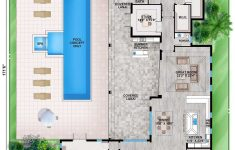 Florida House Plans With Pool Beautiful Plan Bw Florida House Plan With Guest Wing