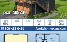 Garage Plans With Cost To Build Inspirational Modern Style House Plan With 1 Bed 1 Bath 2 Car Garage