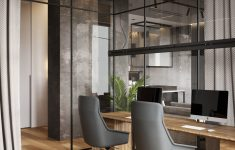 Glass Interior Walls For Homes Best Of A Glass Wall Separates The Living Room From The Home Fice