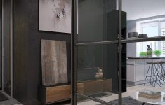 Glass Interior Walls For Homes Inspirational Two Sleek Apartments With Interior Glass Walls