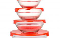 "Glass Mixing Bowls Walmart Inspirational Le Regalo Hw1233 10 Piece Storage Set Mixing Bowl Prep Bowl No Leak Air Tight 5 Pack Bowls 3 50"" 4 00"" 4 75"" 5 50"" 6 50"" Transparent Red"