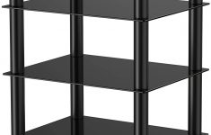 Glass Shelf Protectors Best Of Fitueyes 4 Tier Media Stand Audio Video Ponent Cabinet With Glass Shelf For Apple Tv Xbox E Ps4 As Gb