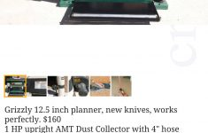 Grizzly Cast Iron Router Table Awesome Craigslist Listing For Grizzly G1017 Planer $160 Good Deal