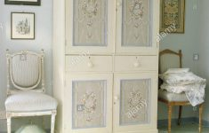 Hand Painted Antique Furniture New Antique Chairs On Either Side Of Painted Wardrobe With Hand
