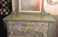 "Hand Painted Antique Furniture New Lovely ""duck Egg Blue"" And Lace Dresser"