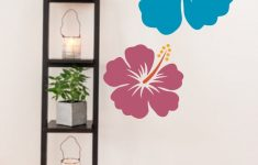 Hibiscus Flower Wall Stickers Beautiful Hawaiian Flower Decal Hibiscus Wall Decal Colorful Flower