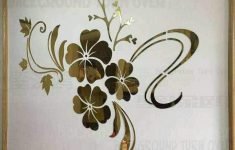 Hibiscus Flower Wall Stickers Inspirational Spring Nature Hibiscus Flower Mirror Decorative Wall Sticker