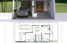 Home Plans Free Downloads Inspirational House Plans 7x15m With 4 Bedrooms House Plans Free Downloads