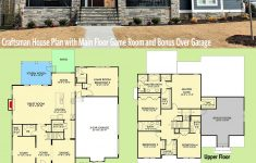 House Plans Over Garage New Plan Vv Craftsman House Plan With Main Floor Game