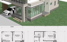 House Plans With 2 Living Rooms Lovely Home Design Plan 8x13m With 4 Bedrooms