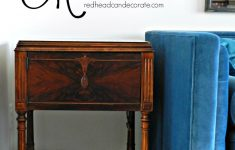 How To Refinish Antique Furniture Without Stripping Lovely Vintage Sewing Machine Table Makeover Without Refinishing