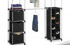 """Mainstays Wire Shelf Closet Organizer Awesome Whitmor Deluxe Double Rod Adjustable Closet Organization System Silver & Black 19 5"""" X 52 75"""" X 80 125"""""""