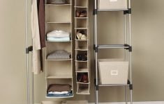 Mainstays Wire Shelf Closet Organizer New Wardrobe Racks Stand Up Closet Portable Wardrobe Closet