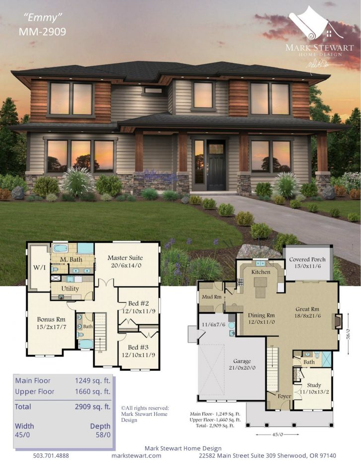Modern Contemporary House Design with Floor Plan 2020