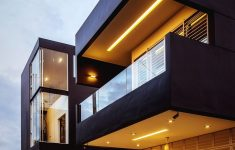 Modern Contemporary House Exterior Elegant Contrasting Space Design At The Haven Kulai By Code Red