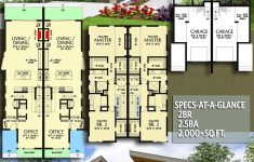 Modern Family Home Plans Luxury Plan Am Modern Exterior Duplex With Matching 2 Bed