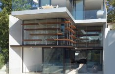 Modern Glass House Plans Pool Beautiful This House Design Sloped Land Highlights All Benefits Of