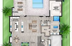 Modern House Floor Plans With Pictures Fresh Plan Bw Master Down Modern House Plan With Outdoor Living Room
