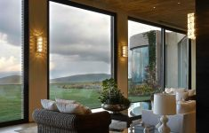 Modern Houses With Big Windows Inspirational Sophisticated Rustic Feel Impressive Wood And Stone House