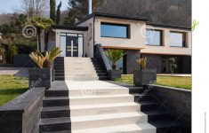 Modern Villa Exterior Design Luxury Exterior View A Modern Luxury Villa Staircase To The