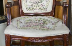 Queen Anne Antique Furniture Luxury Antique Queen Anne Chair With Embroidered Cushions — Real Good Goods Co