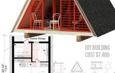 Small Affordable Cabins To Build Beautiful A Frame Cabin Plans Dolores In 2020