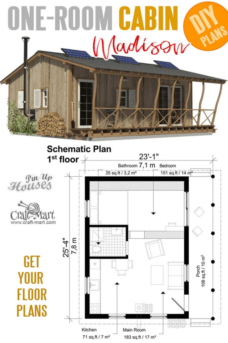 Small Two Bedroom Cabin Plans 2020