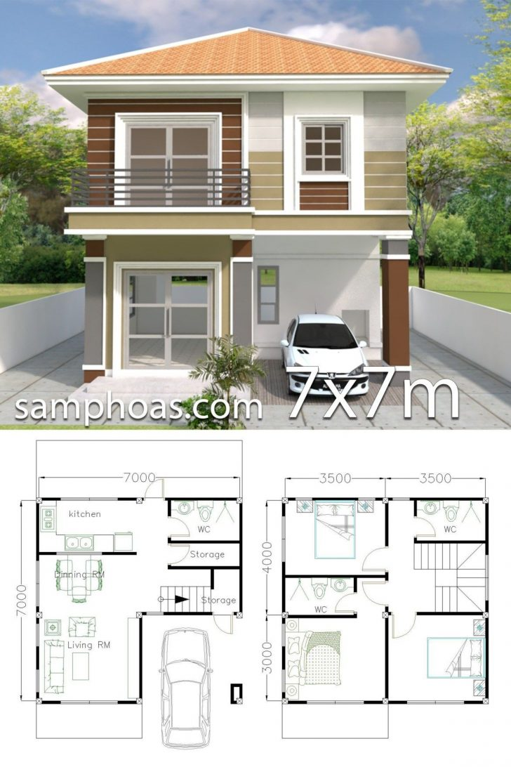 Three Bedroom House Plan and Design 2021