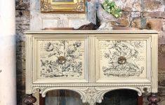 Used Antique Furniture Near Me Fresh Iod Classic Bouquets Transfer Was Used On This Small Buffet