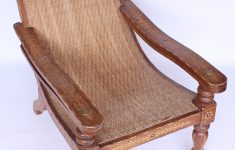 19th Century Antique Furniture New 19th Century Antique Colonial Plantation Cane And Teak Chair Vintage