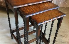 Antique Barley Twist Furniture Beautiful English Oak Barley Twist Nesting Tables