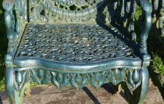 Antique Cast Iron Outdoor Furniture Luxury Set Of Four Cast Iron Garden Armchairs Four Seasons Plaques On The Backs