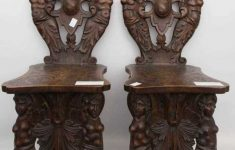 Antique Furniture Auctions Online Luxury Two Chairs Sgabello Style Wood Lacquer Germany 20