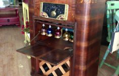 Antique Liquor Cabinet Furniture Unique Wine Bar Recreated From An Antique Stereo Cabinet