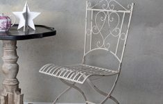 Antique Metal Outdoor Furniture Elegant Details About Garden Chair Antique Metal White Shabby Chic Balcony Steel