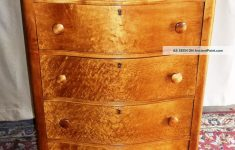 Antique Tiger Maple Furniture Awesome Antique Birds Eye Maple Tall 2 Over 4 Bowed Drawer Dresser