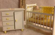 Antique White Crib Furniture New Vintage 2 Pc White Wood Nursery Furniture With Dressed Porcelain Baby