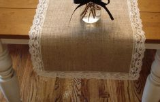 Burlap Table Runner With Lace Trim Luxury Burlap And Lace Table Runner Full Vintage Lace Trim