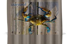 Crab Shower Curtain Hooks Lovely Amazon Blue Crab On Dock Maryland 71x74 Polyester