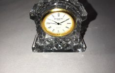 """Crystal Desk Clocks Small New Waterford Ireland Crystal Small Dome Desk Clock 3 1 2"""""""