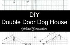 Dog House Plans For 3 Dogs Awesome Diy Double Door Dog House