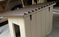 Dog House Plans With Hinged Roof Inspirational Insulated Doghouse With Hinged Roof And Linoleum Flooring