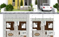 Duplex Bungalow House Plans Luxury House Plans 9x12m With 2 Bedrooms In 2020