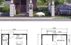 Floor Plans Small Houses New Small Home Design Plan 5x5 5m With 2 Bedrooms