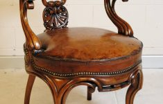 French Antique Furniture For Sale New French Antique Rosewood Desk Chair With Leather Seat Image 8