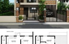 House Plans 2 Story 3 Bedrooms Luxury Home Design Plan 9x8m With 3 Bedrooms