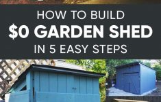 How To Build An Affordable House Unique How To Build A Practically Free Garden Storage Shed Plus 8