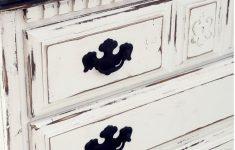 How To Paint Furniture Antique White Inspirational Distressed Black And White Tall Dresser