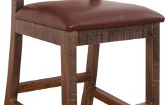 """International Furniture Direct Antique Multicolor Elegant International Furniture Direct Bar And Game Room 24"""" Chair"""